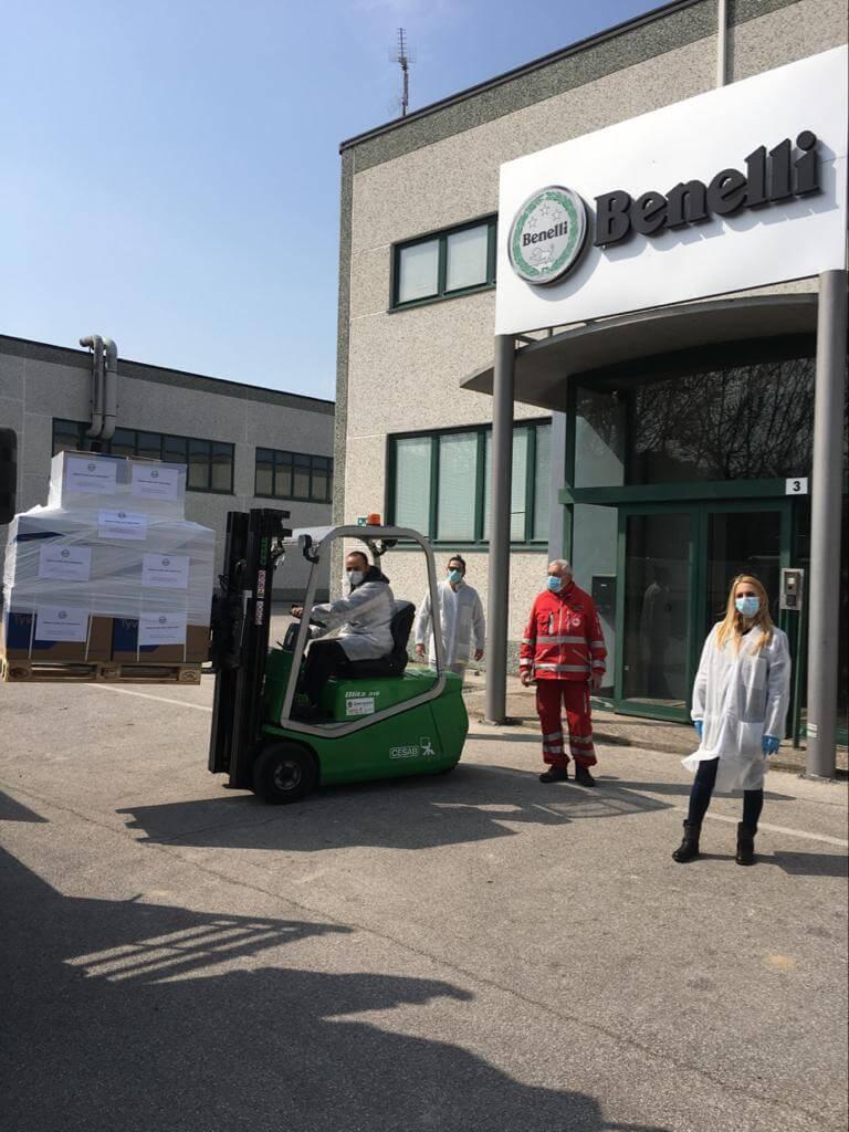 Benelli QJ aiuta CRI Pesaro